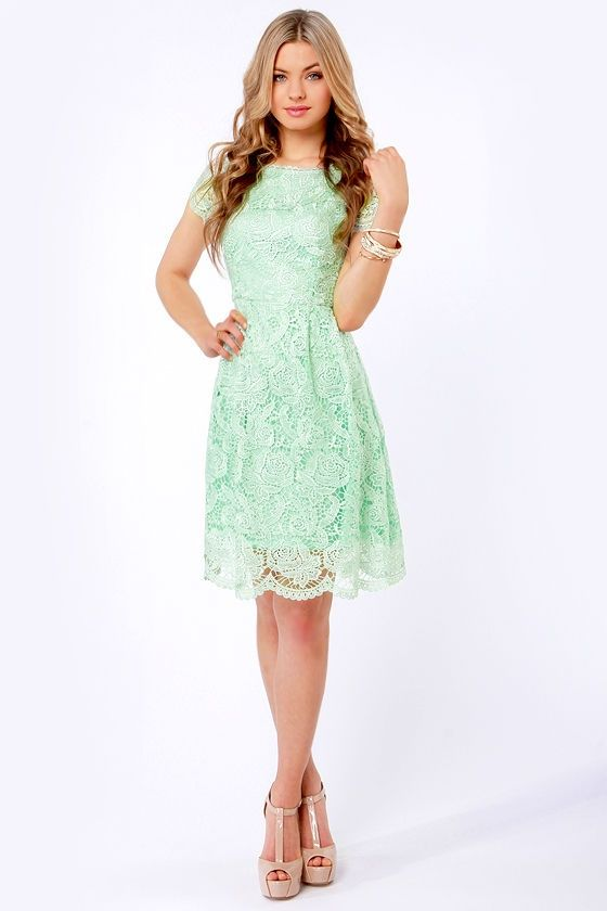 Vestidos color menta (1)