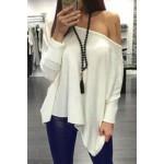 ideas para usar blusas con hombros descubiertos