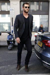 Outfit con blazer negro de hombre