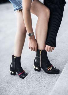 outfits con botas al tobillo
