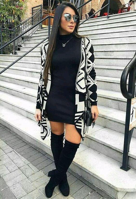 Outfits con botas altas y botas de tobillo