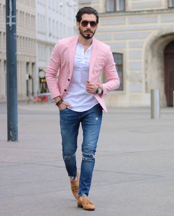 Outfits informales con blazer para hombre