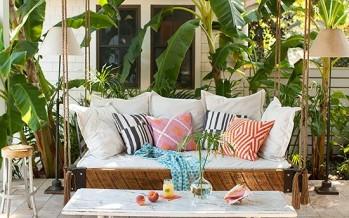Ideas de camas colgantes para porches