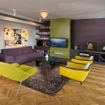 13 ideas para decorar tu hogar en morado gris y amarillo (11)