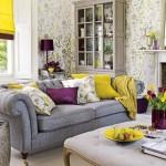 13 ideas para decorar tu hogar en morado gris y amarillo (3)