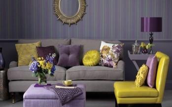 13 ideas para decorar tu hogar en morado gris y amarillo