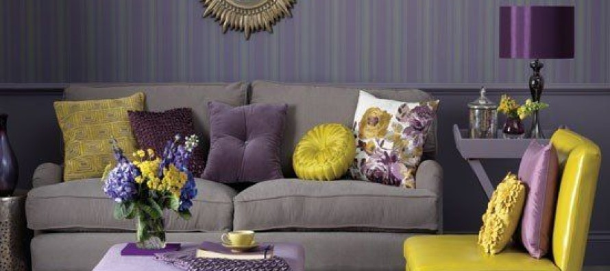 13 ideas para decorar tu hogar en morado gris y amarillo for Ideas para tu hogar decoracion