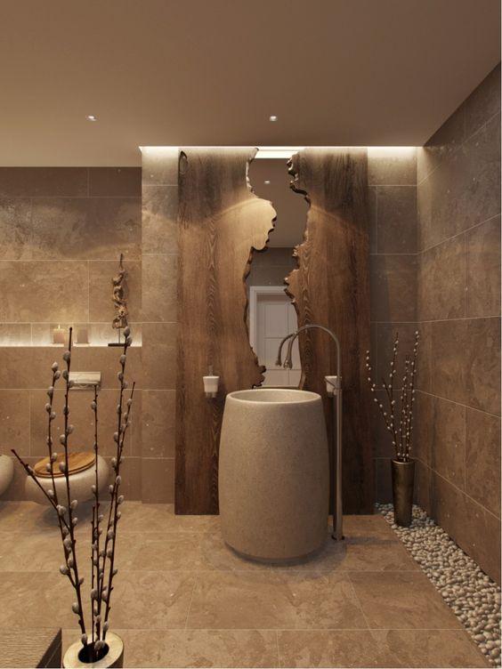 Ba os modernos y elegantes 21 como organizar la casa for Decoracion de banos modernos y elegantes