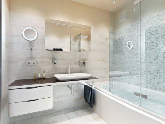 Ba os modernos y elegantes 22 como organizar la casa for Azulejos para cuartos de bano modernos