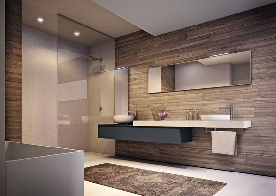 Ba os modernos y elegantes decoracion de interiores for Aseos modernos