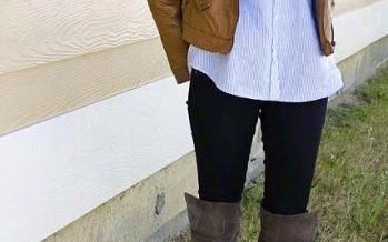Botas largas y bufandas para temporada invernal