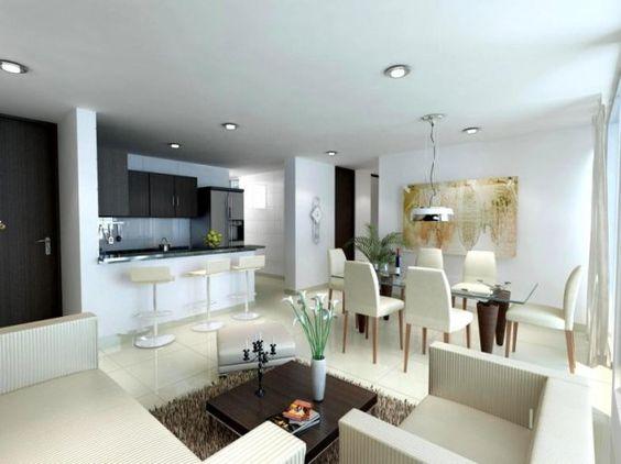 Decoracion de sala y comedor en espacios grandes (10)