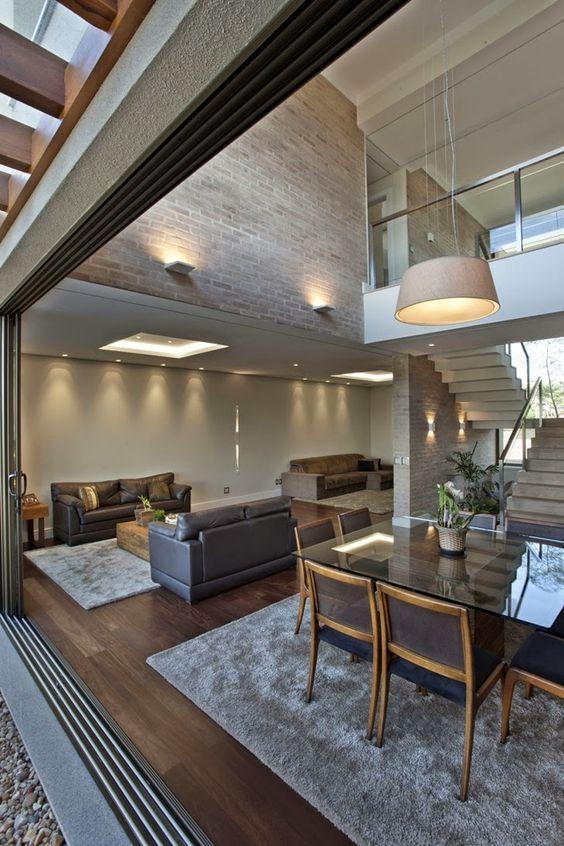Decoracion de sala y comedor en espacios grandes (2)