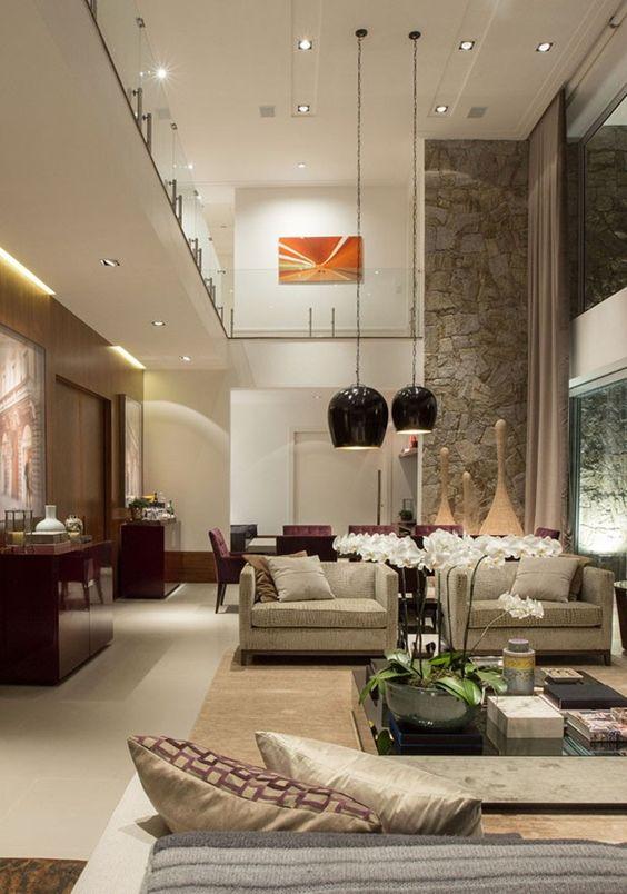 Decoracion de sala y comedor en espacios grandes