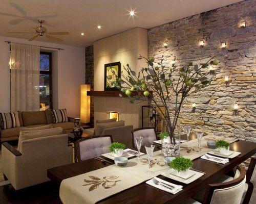 Decoracion de sala y comedor en espacios grandes (5)   Decoracion de ...