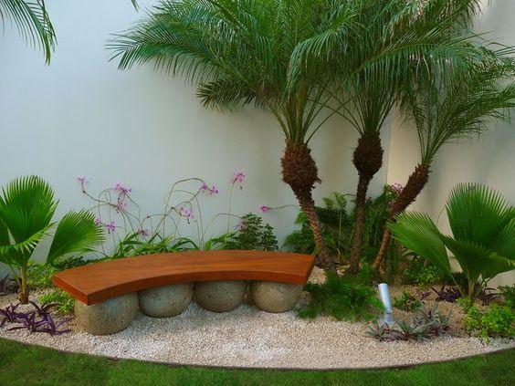 Dise os de patios y jardines minimalistas 18 - Diseno de jardines pequenos para casas ...