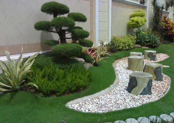 Diseños de patios y jardines minimalistas (2)