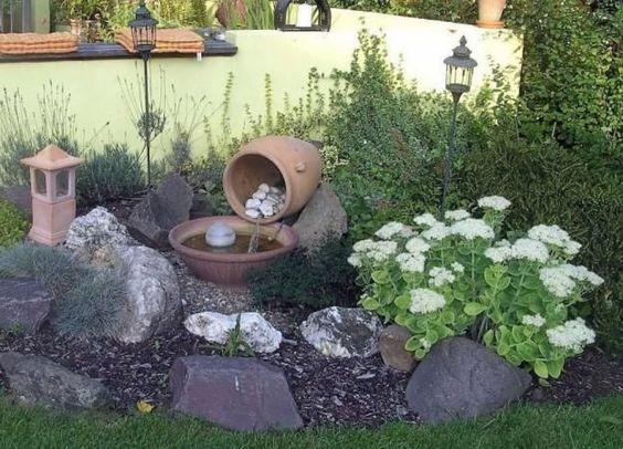 Dise os de patios y jardines minimalistas 24 - Como decorar mi jardin con piedras y plantas ...