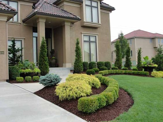 Ideas para decorar jardines del frente 25 decoracion for Simple landscape design for front of house