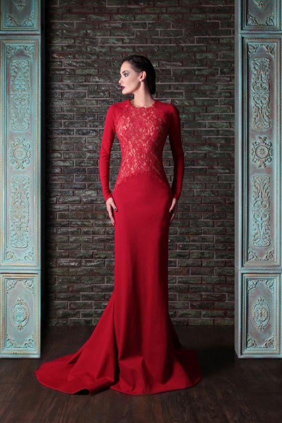 0841ab7b1 Vestidos de gala color rojo (23)