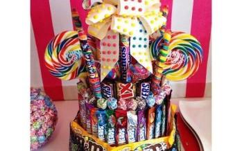 12 ideas de pasteles hechos con chocolates y caramelos