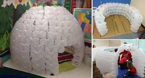 Casas para tus perros reciclando botellas 4 decoracion for Casas plasticas para ninos