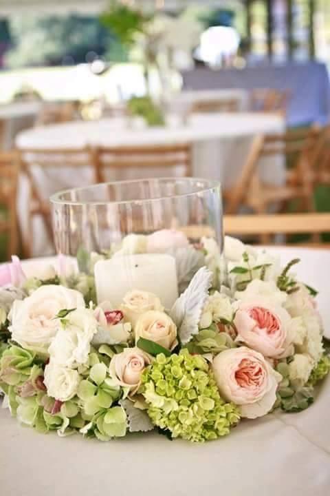 Centros de mesa para bodas Decoracion de interiores Fachadas para