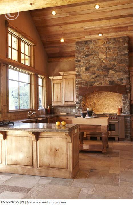 Cocinas rusticas tradicionales 4 decoracion de for Mountain home kitchens