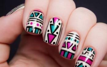 Decoracion de uñas estilo tribal