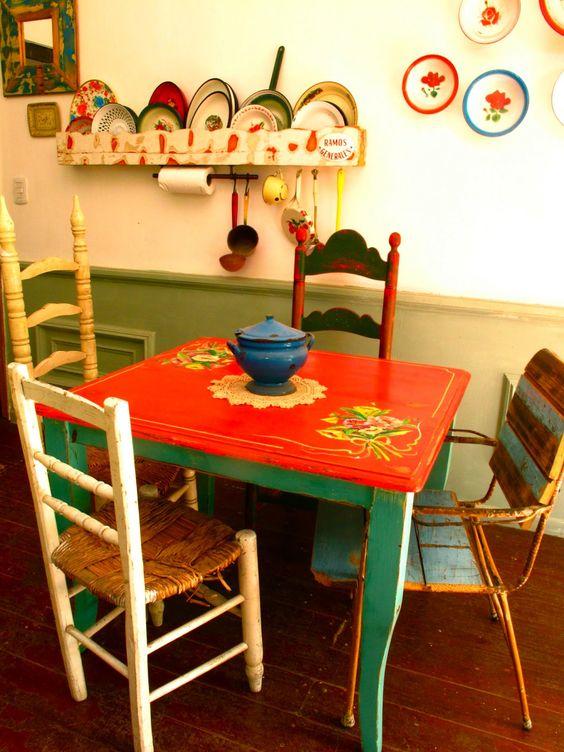 decoracion hippie chic de cocinas  7