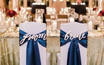 Detalles en azul marino para boda