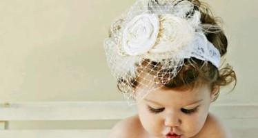 Diademas de niña para bautizo