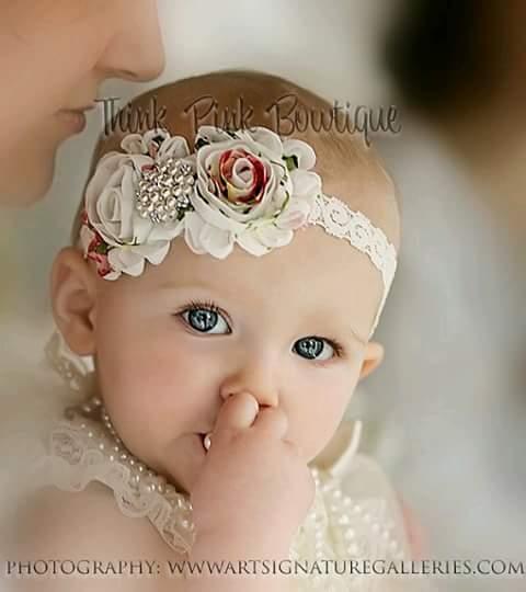 Diademas de niña para bautizo (26)