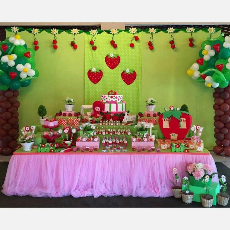 Fiestas De Rosita Fresita Como Organizar La Casa
