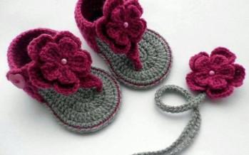 Hermosos zapatitos tejidos para que tu bebe luzca con mucho estilo