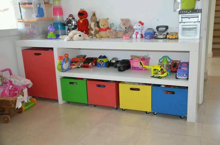 ideas para organizar los juguetes de tus hijos 17 On mueble guarda juguetes