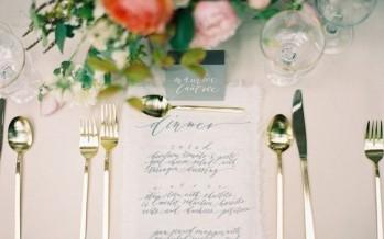 Ideas para presentar el menu en una boda