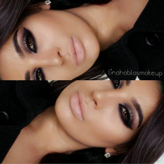 Maquillaje Negro Maquillaje En Tonos Lilas Y La Combinacin Result - Maquillaje-negro