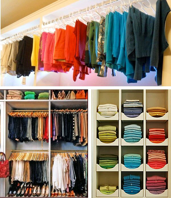 Open closet excelente idea para organizar en espacios for Closet para habitaciones pequenas