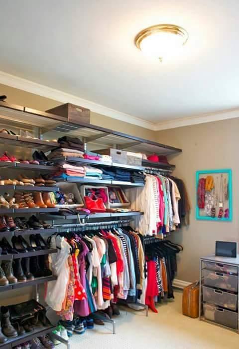 Open closet excelente idea para organizar en espacios ...