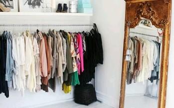 Open closet excelente idea para organizar en espacios pequeños