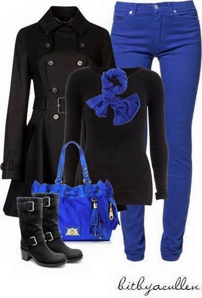 Outfits con color azul rey (1)   Decoracion de interiores Fachadas para casas como Organizar la casa