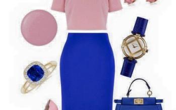 Outfits con color azul rey