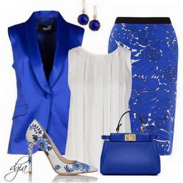 Outfits con color azul rey (18)   Decoracion de interiores Fachadas para casas como Organizar la ...