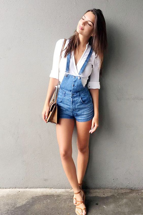 Outfits con overol short