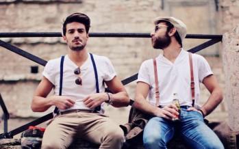 Outfits de hombres con tirantes