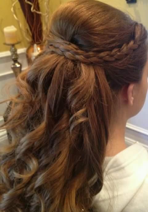 De moda peinados para niñas de primera comunion Colección De Tutoriales De Color De Pelo - Peinados para niñas para primera comunion (27)   Como ...