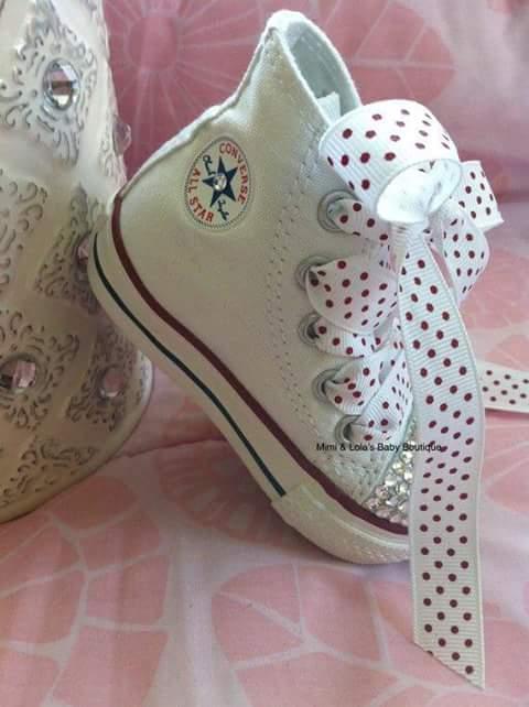 Tenis converse para ni as decorados con critales 11 - Ideas para decorar zapatos de nina ...