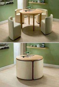 Utiliza muebles multifuncionales