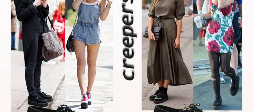 Zapatos de piso con plataforma- CREEPERS